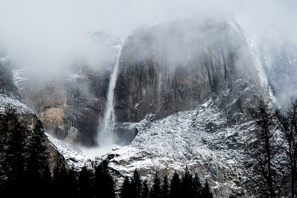 I went to Yosemite during a snowstorm and took this