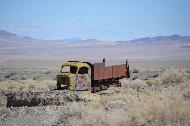 If you lost an old mining truck a while back I found it in Alkali Nevada
