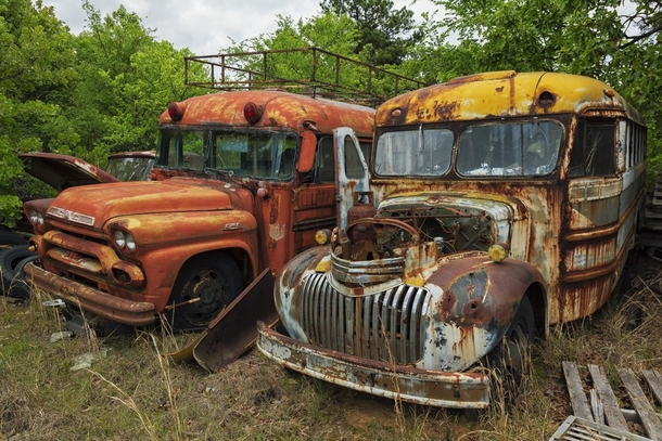 In an abandoned junkyard in Arkansas with millions of  worth of classic cars and buses etc the owner has disappeared and the vehicles are also disappearing due to theft full series linked below