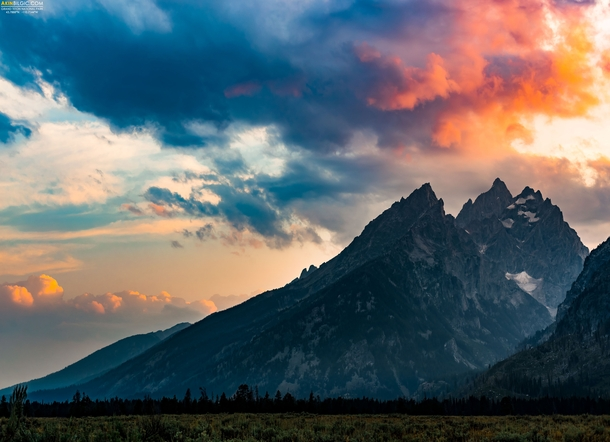 In honor of the National Park Service th birthday today - My shot of Grand Teton in all its glory