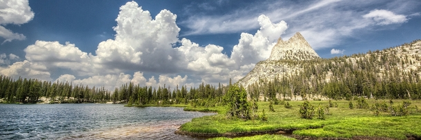 In the back-country of Yosemite above Cathedral Lake - California USA