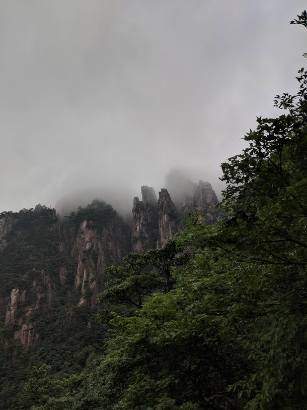 In the clouds Huangshan Mountain China