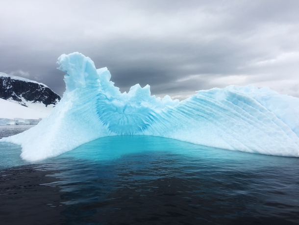 Incredible iceberg in Antarctica spotted a few days ago  OC