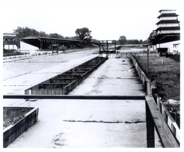 Indianapolis Motor Speedway in  after  years of abandonment during World War II