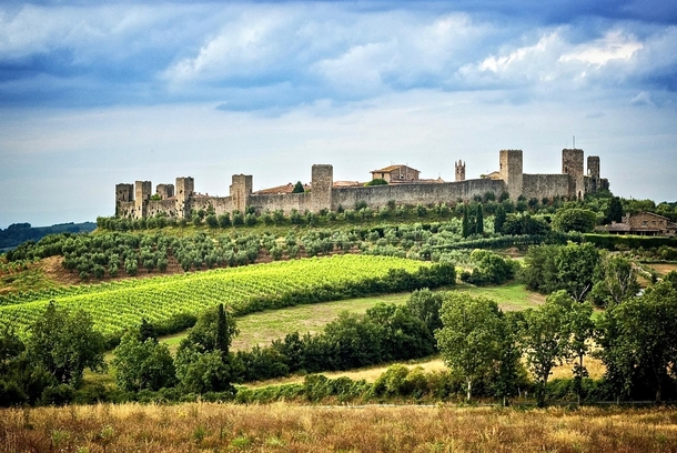 Italy Monteriggioni The walled medieval village in defense of Siena