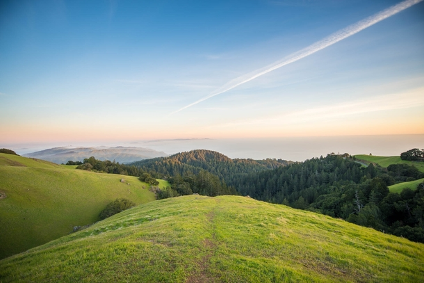 Its not the most marvelous mountain in California but its beautiful in its own way Mount Tamalpais just north of San Francisco