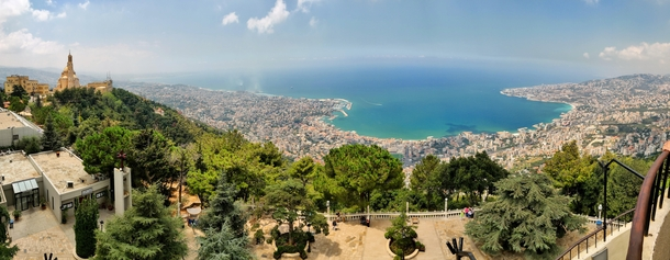 Jounieh bay Lebanon from above