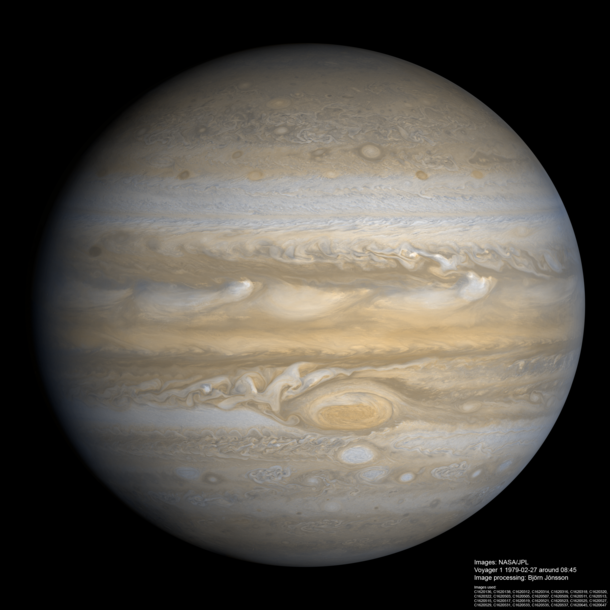 Jupiter processed from Voyager  data by Bjrn Jnsson