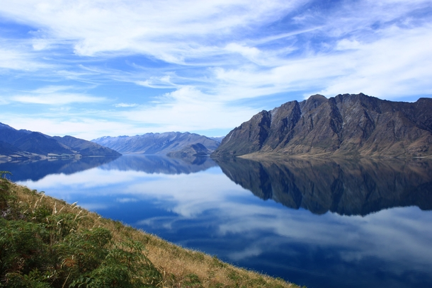 Lake Hawea Wanaka New Zealand  taken by a friend