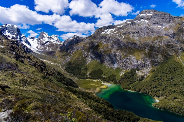 Lake Mackenzie in New Zealand one of the many stunning valleys on the Routeburn Track