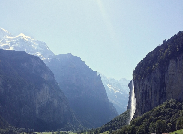 Lauterbrunnen Valley Switzerland A valley of  waterfalls and Tolkiens inspiration for Rivendell