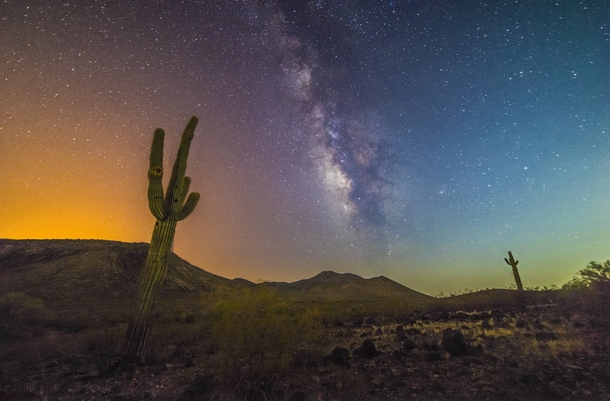 Light Pollution from both the Moon and Phoenix mixing in the Milkyway