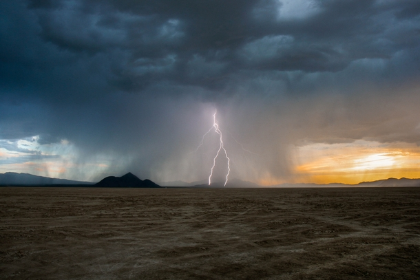 Lightning Storm at Black Rock Desert Nevada