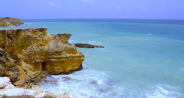 Limestone cliffs at Playa Sucia in Cabo Rojo Puerto Rico