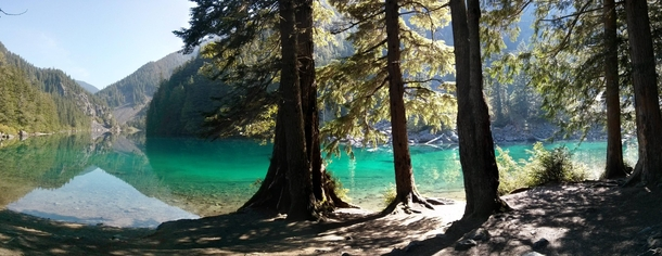 Literally the first thing you see when you unzip your tent at Lindeman Lake British Columbia Nexus