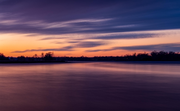 Long exposure of a sunset from a couple weeks ago
