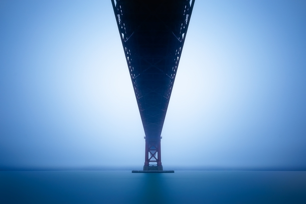 Long Exposure Underneath the Golden Gate by Casey McCallister