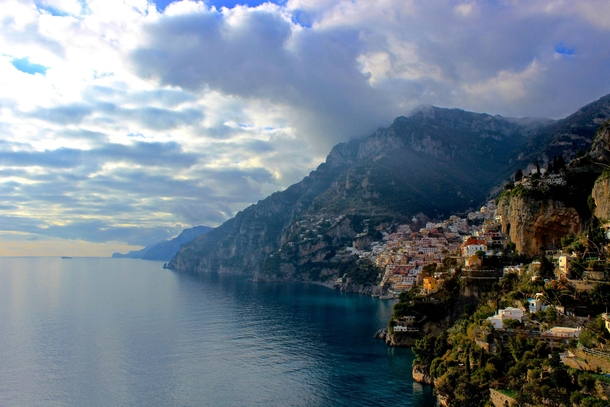 Looking down on Positano from the Path of the Gods- Amalfi Coast