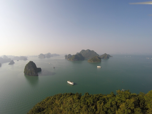 Lost control of my drone in Halong Bay in Vietnam the result was gorgeous