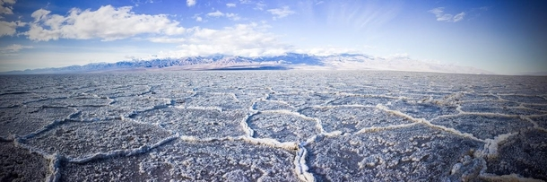 Lowest Point in NorthAmerica Badwater Basin Salt Flats