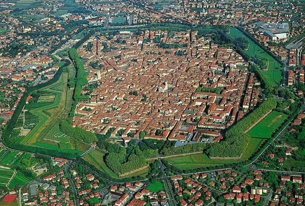Lucca in Tuscany Italy is still a hidden city closed into its renaissance intact Walls
