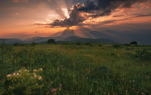 Magical light - the beautiful Caucasus foothills of Georgia photo by Soso Meladze