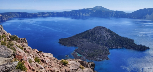Magnificently blue Crater Lake Oregon