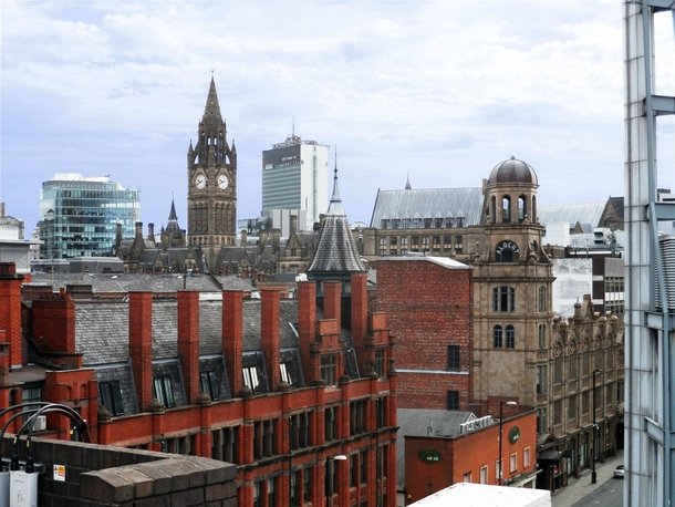 Manchester England Skyline  years of development