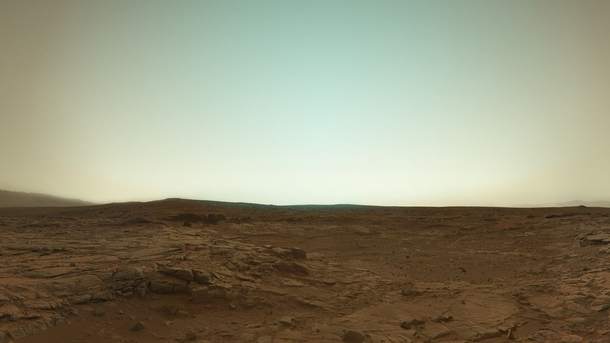 Mars in true color from Curiosity