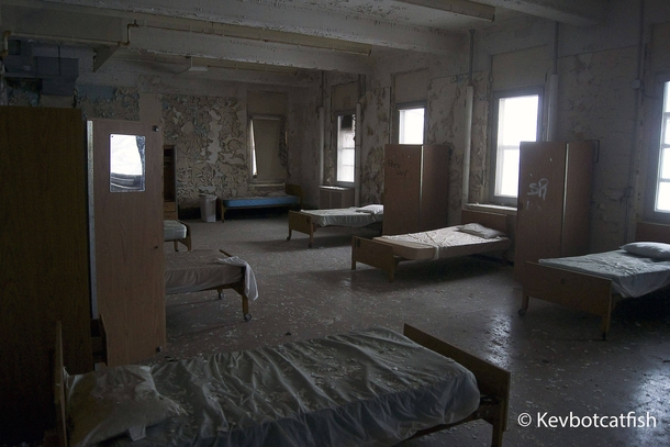 Mass Patient Room In Abandoned Northern Asylum