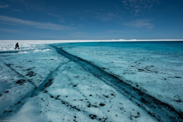 Meltwater lake on the Greenland Ice Sheet  jason_gulley_science