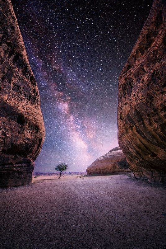 Milky way - Desert near the oasis city of Al-Ula Saudi Arabia