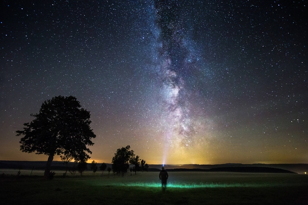 Milky Way over Saxony-Anhalt Germany  by Oliver Henze