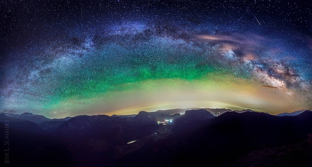 Milky Way over the Rocky Mountains at  Feet