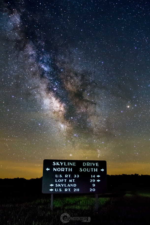 Milky Way quite literally over Skyline Drive - Shenandoah National Park VA