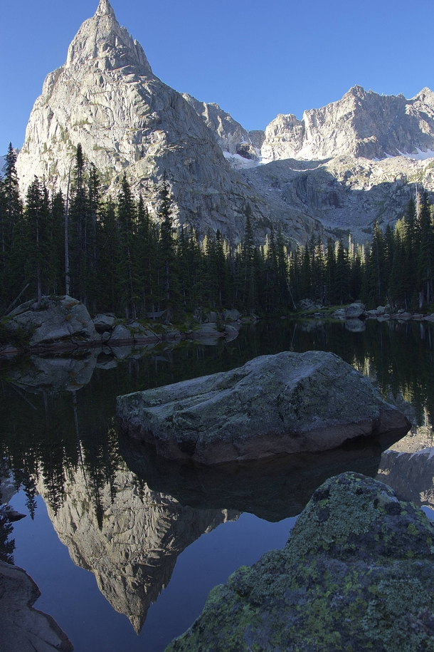Mirror Lake Beneath Lone Eagle Peak
