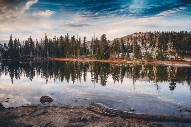 Mirror Reflection in Lake in the Sierras