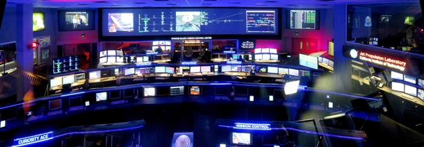 Mission Control Room at the Jet Propulsion Laboratory Pasadena CA aka The Center of the Universe