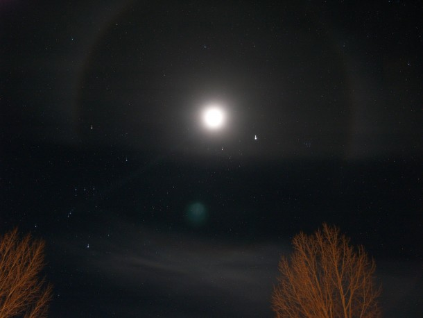 Moons Took This Image Of A Winter Halo Over Jackson Wyoming Last Night