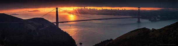 Morning Comes - A San Fransisco Sunrise from Hawk Hills  photo by Pichaya Viwatrujirapong