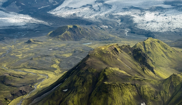 Mountain Ridges and Streams in Iceland  Photographed by Steven McGill