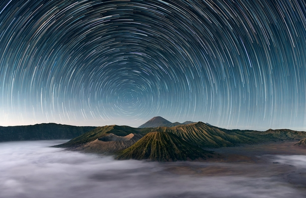 Mt Bromo Indonesia under the stars  photo by Elia Locardi
