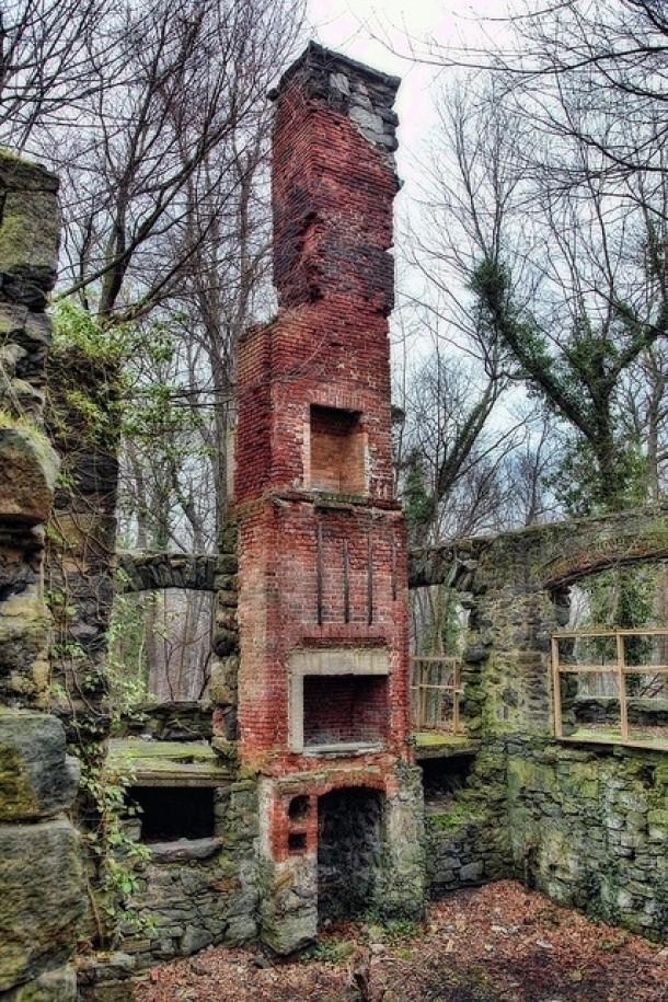 Multistory Fireplace And Stone Foundation Photorator