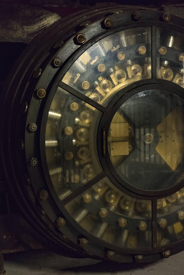 My apartment building used to be a bank The maintenance guy and I are friends and he showed me the vault in the basement