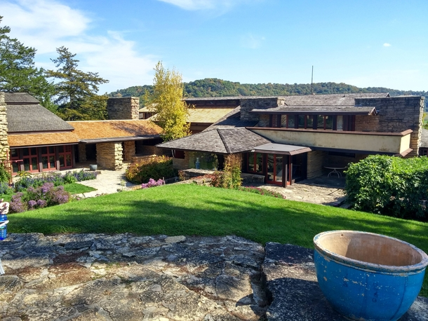 My trip to Taliesin -- Frank Lloyd Wrights home in Wisconsin -- this past weekend AIC