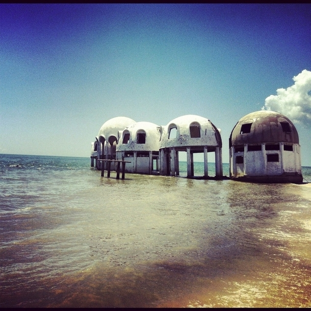 Mysterious dome houses Marco island in Cape Romano Florida