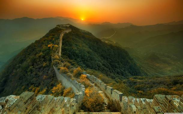 Nature doing what the Mongolians couldnt do Great Wall of China