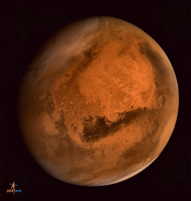 New Mars photo from Indias Mars Orbiter Mission