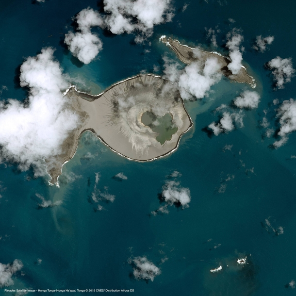 Newest island in the world formed by underwater volcano Hunga Tonga