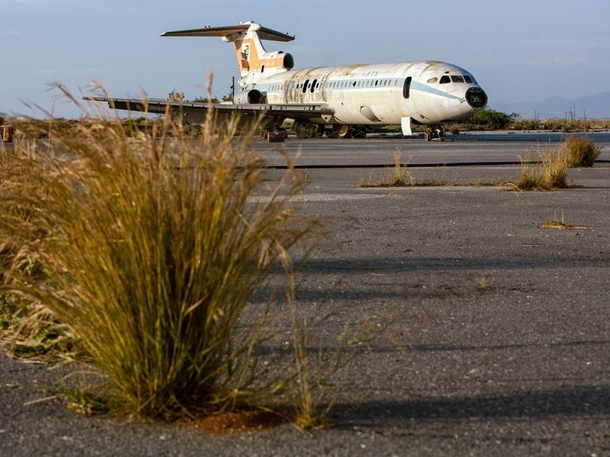Nicosia International Airport Abandoned in  after the Turkish invasion of Cyprus
